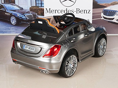mercedes benz s600 12v kids ride on battery powered wheels car rc remote silver