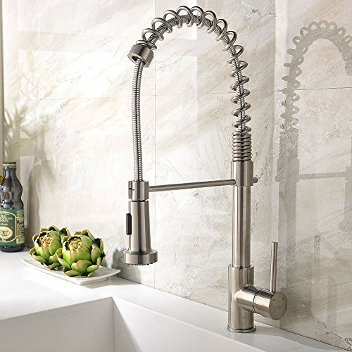 Commercial Swivel Pull Down Spray Sink Faucet Kitchen