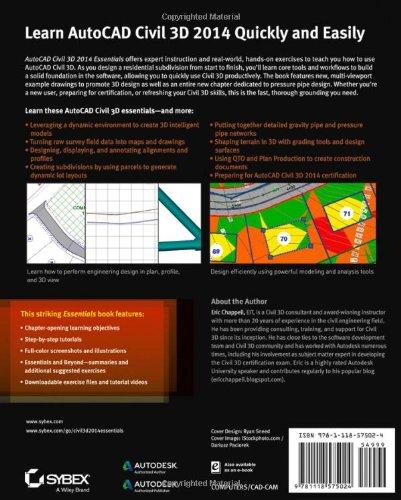 autocad civil 3d 2014 essentials autodesk official press software computer software multimedia. Black Bedroom Furniture Sets. Home Design Ideas