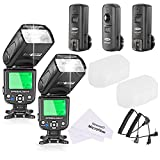 Neewer® NW-562C E-TTL Flash Speedlite Kit for Canon DSLR Camera,Kit Include:(2)NW562C Flash+(1)FC-16 2.4Ghz Wireless Trigger(1 * Transmitter+2 * Receiver)+(1)Microfiber Cleaning Cloth
