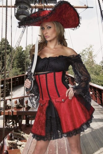 Sexy Pirate Wench Costume - M/L