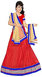 Jay Ambe Creation Women's Viscose Unstitched Lehenga Choli (dno106A, Cream & ...