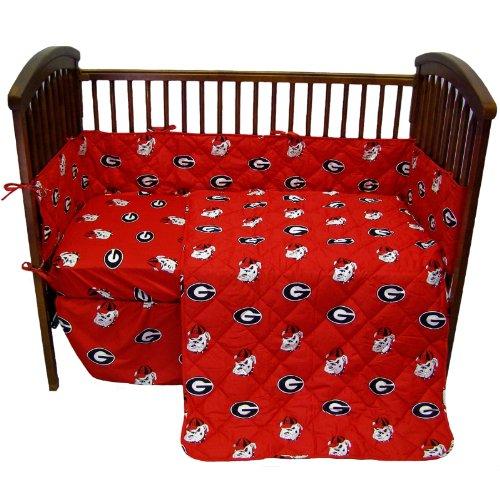 College Covers Georgia Bulldogs 5 Piece Baby Crib Set - 1