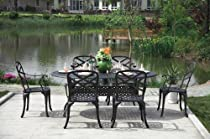 Big Sale CBM Outdoor Cast Aluminum Patio Furniture 7 Pc Dining Set C CBM1290