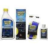 Cerama Bryte Best Value Kit: Ceramic Cooktop Cleaner 28oz, Scraper, 10 Pads, Burnt-on Grease Remover 2oz