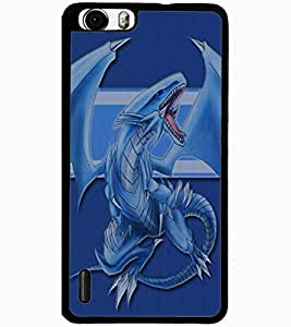 ColourCraft Cartoon Dragon Design Back Case Cover for HUAWEI HONOR 6 PLUS