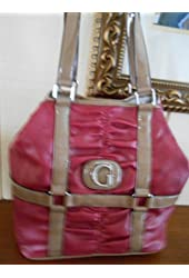 GUESS LOVINGTON VIOLET/RED TOTE HANDBAG