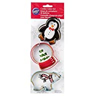 Wilton 2308-5070 3-Piece Christmas Polar Metal Cookie Cutter Set