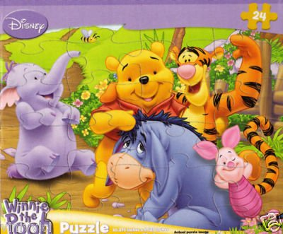 Cheap Fun Disney Winnie the Pooh 24-Piece Jigsaw Puzzle (Pooh and Friends) (B0039K9BHQ)