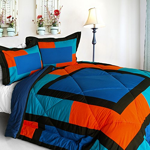 [Excellent Soho] Quilted Patchwork Down Alternative Comforter Set (Twin Size) front-906840