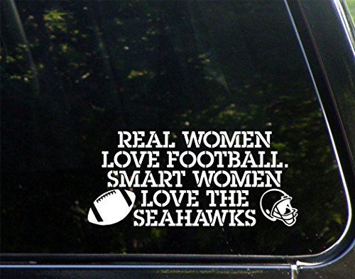 Real-Women-Love-Football-Smart-Women-Love-The-Seahawks-8-x-3-12-Vinyl-Die-Cut-Decal-Bumper-Sticker-For-Windows-Cars-Trucks-Laptops-Macbooks-Etc