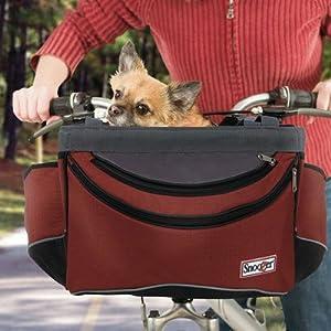 Front Bike Pet Basket Fabric: Red Black Grey