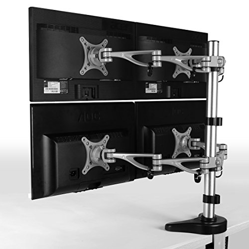 FLEXIMOUNTS M16 Quad LCD arm Monitor Stand Desk Mounts for 10''-24'' Samsung/Dell/Asus/Acer/HP/AOC LCD Computer Monitor (Quad LCD Mount) (Quad Computers compare prices)