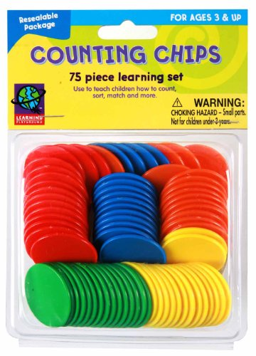 Eureka Learning Playground Hands On Learning, 75 Counting Chips (487120) - 1