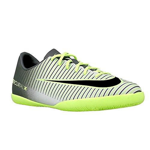 Nike JR MERCURIALX VAPOR XI IC - Baskets pour garçon, Argenté, 27