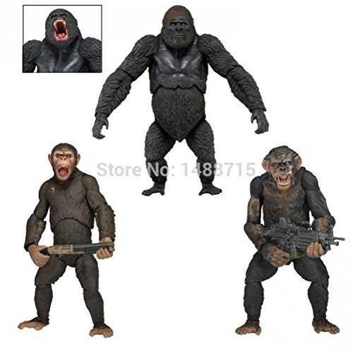 Dawn of the Planet of the Apes Caesar Luca Koba Sci-Fi Film NECA Ver.2 Action Figure Toys 18CM Box (Caesar Costume Ape)
