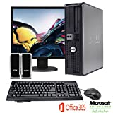 "Dell OptiPlex 745 Desktop Complete Computer Package-Microsoft Office 365- Keyboard Mouse Speakers & 17"" LCD Monitor"