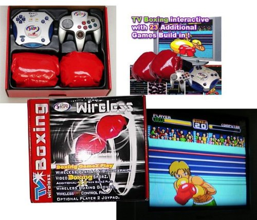 Interactive Boxing Tv Plug Play Video Game With Racket 23 Vintage Video Games front-754112