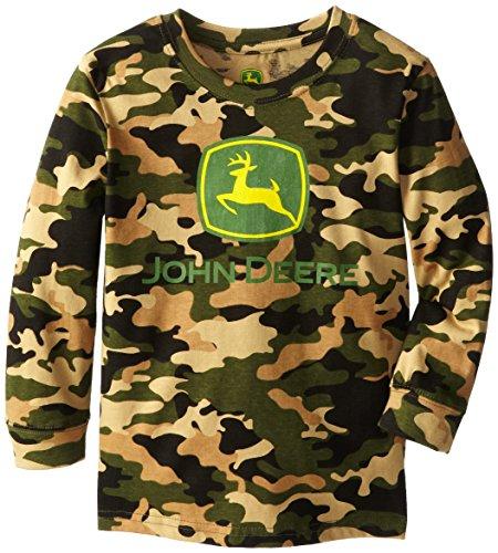 John Deere Little Boys' Basic Chest Logo Long Sleeve Tee, Camouflage, 6 front-380761
