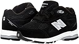 New Balance KJ990 Lace-Up Running Shoe (Infant/Little Kid),Black,3 M US Infant