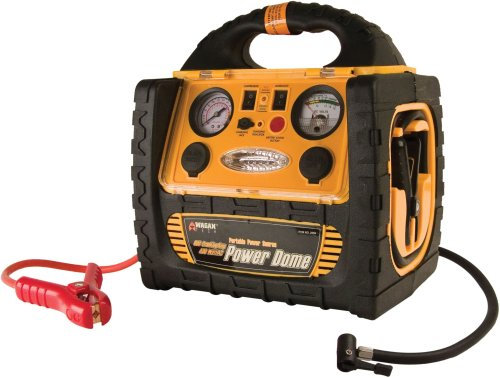 Wagan 400-Watt Power Dome Jumpstarter with Built-In Air Compressor and LED Utility Light