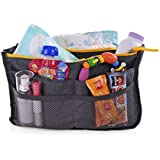 """Q-Bit By Sharkskinzz Handbag Organizer and Travel Tote Let's you instantly """"Switch from one bag to another in seconds"""" - Orders are shipped directly from Amazon so your delivery is fast & your satisfaction guaranteed! (Gray)"""