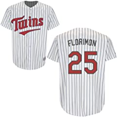 Pedro Florimon Minnesota Twins Home Youth Replica Jersey by Majestic by Majestic