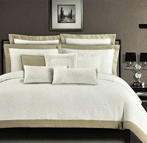 Tahari Zaha Bedding: Tahari Stone Washed Pure Linen Luxury Duvet Cover 3pc
