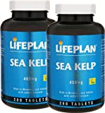 2 Bottles of Lifeplan Sea Kelp 400mg 280 Tablets (560 tablets)