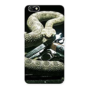 Cute Gun And Rattle Snake Back Case Cover for Honor 4X