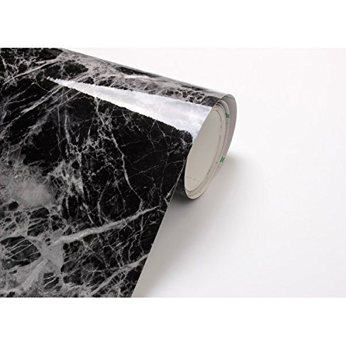 Black Grey Granite Look Marble Effect Contact Paper Film Vinyl Self Adhesive Peel-stick Counter Top (Stick And Peel Countertops compare prices)