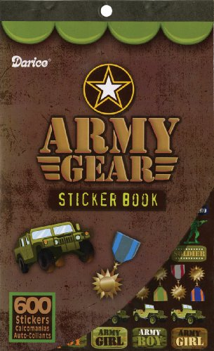 "Sticker Book 9-1/2""X6""-Army Gear-600 Stickers"