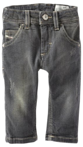 Best Diesel Baby-boys Infant Krooley B Slim Fit Dark Vintage Stretch Denim, Grey/Black, 24 Months