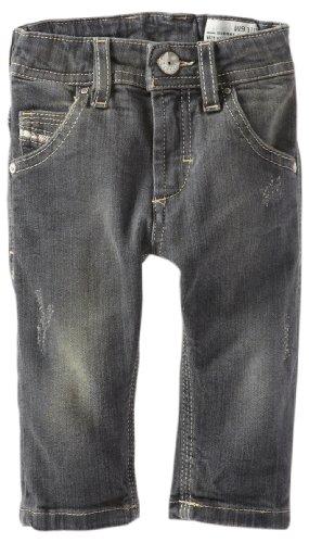 Best Diesel Baby-boys Infant Krooley B Slim Fit Dark Vintage Stretch Denim, Grey/Black, 24 Months