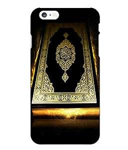 Make My Print Kuran Printed Black Hard Back Cover For Iphone 6 Plus