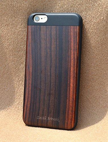 【より薄く、より軽く、より丈夫に】【Zenith Art-Jacket】iPhone 6/6S 最高級木製ハイブリッドケース 【Zenith Artwork】 (iPhone6/6S, 紫檀)