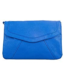 Di Grazia Stylish Italian PU Leather Envelope Women's Shoulder Sling Handbag - Blue