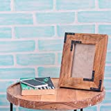 Premium Collection Of Gift Of Wooden Picture Frame Natural Wood With Metal Accent Photo Frame Table Top Decorations