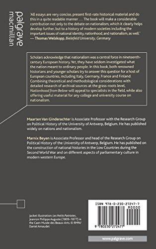 Nationhood from Below: Europe in the Long Nineteenth Century