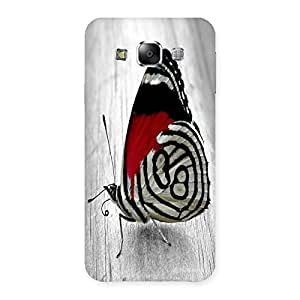 Unicovers Cute Butterfly Back Case Cover for Samsung Galaxy E5