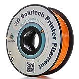 3D Solutech Real Orange 1.75mm ABS 3D Printer Filament 2.2 LBS (1.0KG) (Color: orange)