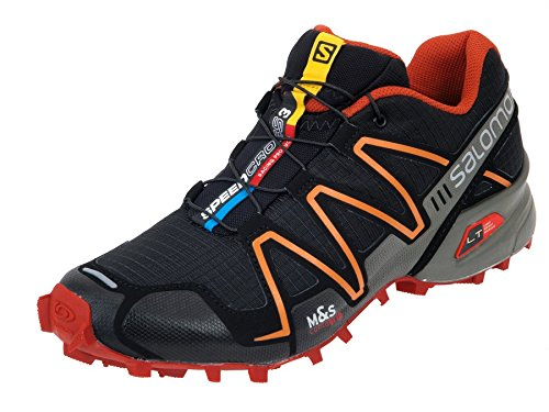 Salomon Speedcross 3 Trail Laufschuhe black-moab orange-clementine-x - 47 1/3