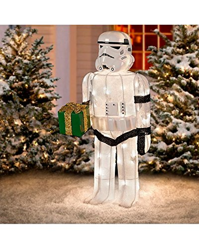 [Star Wars Tinsel Christmas Storm Trooper with Gift Decor | Perfect Home Holiday Outdoor Decorations by the] (Baby State Trooper Costume)