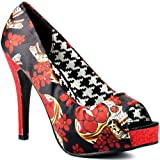 Iron Fist New Slow Dance Peep Toe Multi Pump Platform Shoes Sandals Rock Heels