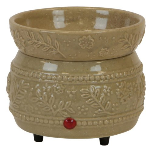 Sand Floral Ceramic 2 In 1 Electric Candle Warmer