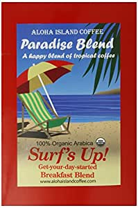 Aloha Island Coffee Company Surf's Up! Breakfast Blend, 18-Count Organic Coffee Pods