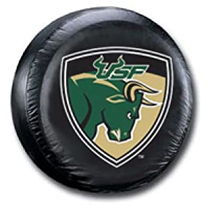 South Florida Bulls NCAA Black Spare Tire Cover Size: A - 34 x 8 Inch