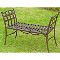 Santa Fe Outdoor Wrought Iron Bench