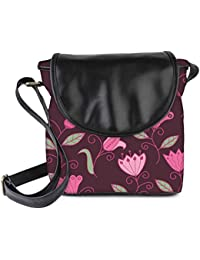 Snoogg Seamless Texture With Flowers And Butterflies Endless Floral Pattern Womens Sling Bag Small Size Tote Bag - B06WLHHXN5