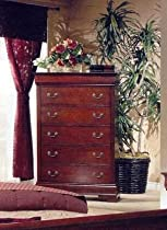 Big Sale Coaster Fine Furniture 200435 Louis Philippe Style Storage Chest, Cherry